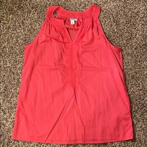 Linen rose colored tank top